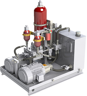 Power Unit with Hydraulic Accumulator