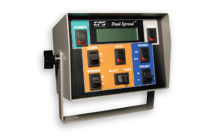 DualSpread™ electronic spreader control system control unit used by snowplow trucks for snow and ice removal