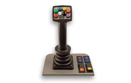 Uni-Grip™ 820 plow control system joystick used by snowplow trucks for snow and ice removal