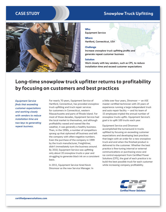 CPS case study on truck upfitter returning to profitability