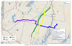 GPS DataSmart™ data collection and reporting software plow route map used by snowplow trucks for snow and ice removal
