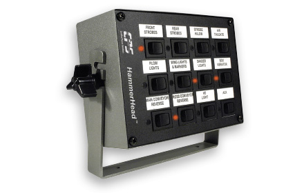 HammerHead™ vehicle accessory control unit used by snowplow trucks for snow and ice removal
