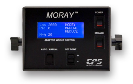 MORAY™ automatic plow weight controller unit used by snowplow trucks for snow and ice removal