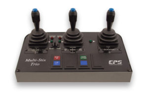 Multi-Stix™ series three-joystick proportional plow control system used by snowplow trucks for snow and ice removal