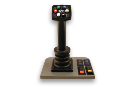 Uni-Grip™ series single-joystick proportional plow control system used by snowplow trucks for snow and ice removal