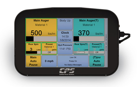 XDS 7-inch color LCD touchscreen used in snowplow trucks for snow and ice removal